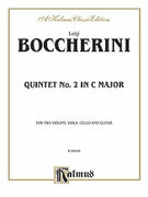 Cover icon of Second Quintet in C Major, for Two Violins, Viola, Cello and Guitar (COMPLETE) sheet music for two violins, viola, cello and guitar by Luigi Boccherini