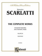 Cover icon of The Complete Works, Volume III (COMPLETE) sheet music for piano solo by Domenico Scarlatti
