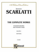 Cover icon of The Complete Works, Volume V (COMPLETE) sheet music for piano solo by Domenico Scarlatti