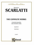 Cover icon of The Complete Works, Volume VI (COMPLETE) sheet music for piano solo by Domenico Scarlatti, classical score, intermediate skill level