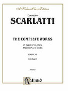 Cover icon of The Complete Works, Volume VII (COMPLETE) sheet music for piano solo by Domenico Scarlatti, classical score, intermediate