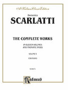 Cover icon of The Complete Works, Volume X (COMPLETE) sheet music for piano solo by Domenico Scarlatti