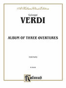Cover icon of Verdi Album of Three Overtures (COMPLETE) sheet music for piano solo by Georg Philipp Telemann