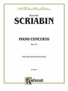 Cover icon of Piano Concerto, Op. 20 (COMPLETE) sheet music for two pianos, four hands by Alexander Scriabin