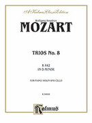 Cover icon of Trio No. 8 in D Minor, K. 442 (COMPLETE) sheet music for piano trio by Wolfgang Amadeus Mozart