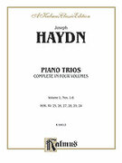 Cover icon of Piano Trios, Volume I (COMPLETE) sheet music for piano trio by Haydn