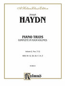Cover icon of Piano Trios, Volume II (COMPLETE) sheet music for piano trio by Franz Joseph Haydn, classical score, intermediate skill level
