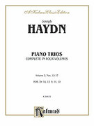 Cover icon of Piano Trios, Volume III (COMPLETE) sheet music for piano trio by Franz Joseph Haydn