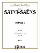 Cover icon of Trio No. 1 in F Major, Op. 18 (COMPLETE) sheet music for piano trio by Camille Saint-Saens