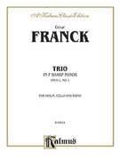Cover icon of Trio in F sharp Minor, Op. 1, No. 1 (COMPLETE) sheet music for piano trio by Cesar Franck and Cesar Franck