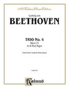 Cover icon of Trio No. 4, Op. 11, in B flat Major (COMPLETE) sheet music for piano trio by Ludwig van Beethoven