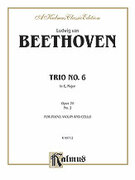 Cover icon of Trio No. 6, in E flat Major, Op. 70, No. 2 (COMPLETE) sheet music for piano trio by Ludwig van Beethoven