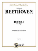 Cover icon of Trio No. 9, in E flat Major (COMPLETE) sheet music for piano trio by Ludwig van Beethoven, classical score, intermediate skill level