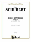 Cover icon of Three Sonatas, Op. 137 (COMPLETE) sheet music for violin and piano by Franz Schubert, classical score, intermediate