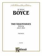 Cover icon of Two Voluntaries (COMPLETE) sheet music for organ solo by William Boyce, classical score, easy/intermediate