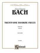 Cover icon of Twenty One Favorite Pieces (COMPLETE) sheet music for piano solo by Johann Sebastian Bach