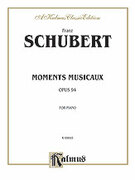 Cover icon of Moments Musicaux, Op. 94 (COMPLETE) sheet music for piano solo by Franz Schubert
