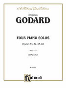 Cover icon of Four Piano Solos (COMPLETE) sheet music for piano solo by Benjamin Godard, classical score, intermediate skill level