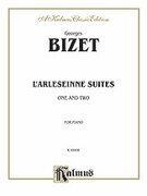 Cover icon of L'Arlesienne Suites Nos. 1 and 2 (COMPLETE) sheet music for piano solo by Georges Bizet, classical score, intermediate piano