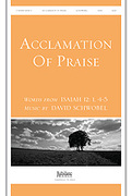 Cover icon of Acclamation of Praise (Words from Isaiah 12:1, 4-5) sheet music for handbells by David Schwoebel and Christian F. Witt, easy/intermediate handbells