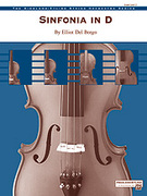 Cover icon of Sinfonia in D sheet music for string orchestra (full score) by Elliot Del Borgo