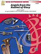 Cover icon of Angels from the Realms of Glory sheet music for concert band (full score) by Henry T. Smart, Robert W. Smith and Michael Story
