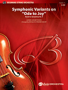 Cover icon of Symphonic Variants on Ode to Joy sheet music for string orchestra (full score) by Ludwig van Beethoven and Douglas E. Wagner, classical score, easy