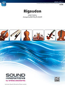 Cover icon of Rigaudon sheet music for string orchestra (full score) by Henry Purcell, classical score, beginner