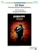 Cover icon of 21 Guns sheet music for string orchestra (full score) by Green Day, easy
