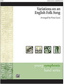 Cover icon of Variations on an English Folk Song sheet music for concert band (full score) by Anonymous, easy skill level