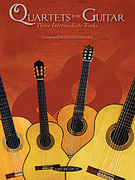 Cover icon of Quartets for Guitar: Three Intermediate Works (COMPLETE) sheet music for guitar solo by David Crittenden, intermediate