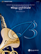 Cover icon of Wings and Shield sheet music for concert band (full score) by Jerry Brubaker