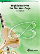 Cover icon of Star Wars Saga, Highlights from the sheet music for concert band (full score) by John Williams and Paul Cook