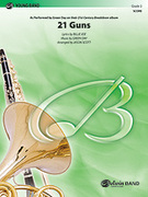 Cover icon of 21 Guns sheet music for concert band (full score) by Green Day, Billie Joe and Jason Scott