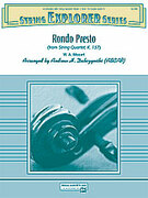 Cover icon of Rondo Presto (COMPLETE) sheet music for string orchestra by Wolfgang Amadeus Mozart and Andrew H. Dabczynski, classical score, easy