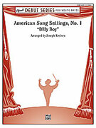 Cover icon of American Song Settings, No. 1 sheet music for concert band (full score) by Anonymous and Joseph Kreines, easy concert band (full score)