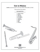 Cover icon of Con la Musica sheet music for Choral Pax (full score) by Jay Althouse, easy/intermediate skill level