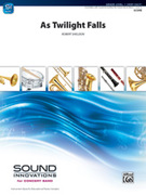 Cover icon of As Twilight Falls sheet music for concert band (full score) by Robert Sheldon, beginner