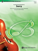 Cover icon of Sorry (COMPLETE) sheet music for string orchestra by Josh Todd, Keith Edward Nelson, Marti Frederiksen, Buckcherry and Patrick Roszell, easy/intermediate