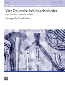 Cover icon of Vier Deutsche Weihnachtslieder sheet music for concert band (full score) by Anonymous, easy skill level