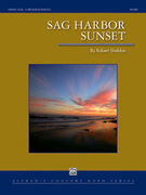 Cover icon of Sag Harbor Sunset sheet music for concert band (full score) by Robert Sheldon, intermediate skill level