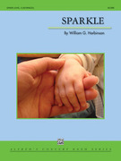 Cover icon of Sparkle sheet music for concert band (full score) by William G. Harbinson