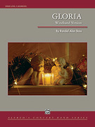 Cover icon of Gloria sheet music for concert band (full score) by Randol Alan Bass, classical Christmas carol score, advanced concert band (full score)
