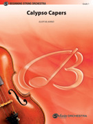 Cover icon of Calypso Capers sheet music for string orchestra (full score) by Elliot Del Borgo, beginner