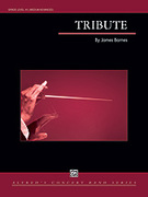 Cover icon of Tribute sheet music for concert band (full score) by James Barnes, intermediate/advanced