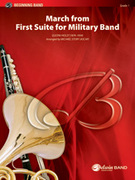Cover icon of March from First Suite for Military Band (COMPLETE) sheet music for concert band by Gustav Holst and Michael Story, classical score, beginner concert band