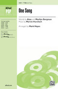 Cover icon of One Song sheet music for choir (TTBB and Opt. Solo) by Marvin Hamlisch, Alan Bergman, Marilyn Bergman and Mark Hayes, intermediate