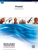 Cover icon of Presto! sheet music for string orchestra (full score) by Robert Sheldon, intermediate