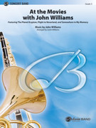 Cover icon of At the Movies with John Williams sheet music for concert band (full score) by John Williams and Justin Williams