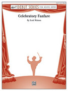 Cover icon of Celebratory Fanfare sheet music for concert band (full score) by Scott Watson, intermediate